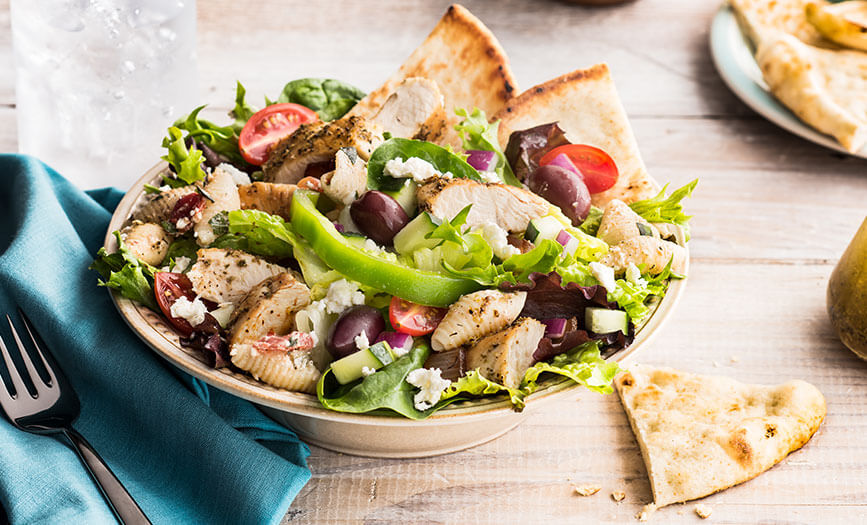 Zoes Kitchen Greek Chicken Pita menu - soups & salads - zoës kitchen