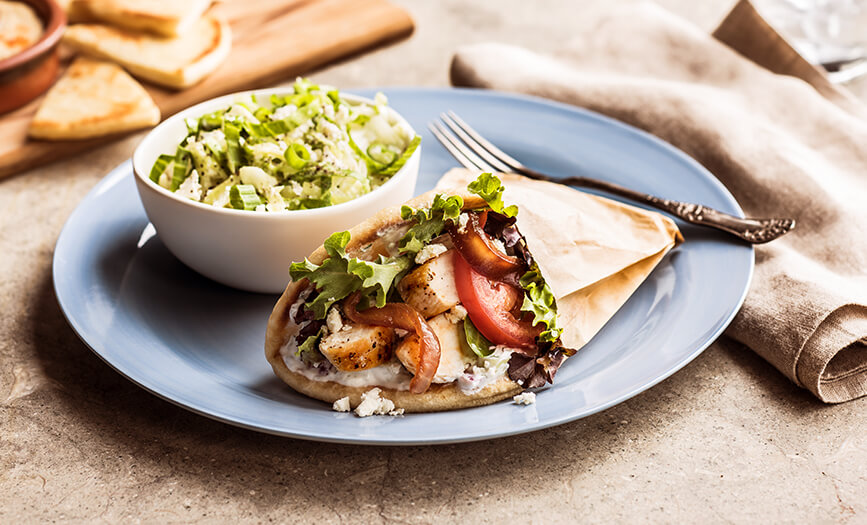 Zoes Kitchen Greek Chicken Pita menu - sandwiches - zoës kitchen