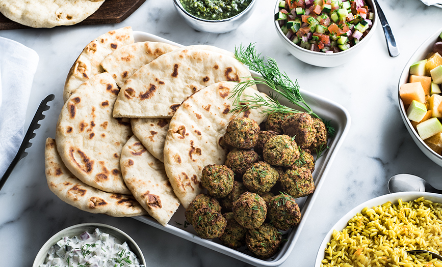 Baked Falafel Family Dinner